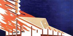 Ed Ruscha; La Cienega, On Fire; 1964; oil on canvas