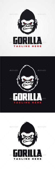Angry Gorilla Logo Template #design #logotype Download: http://graphicriver.net/item/angry-gorilla-logo/12586739?ref=ksioks