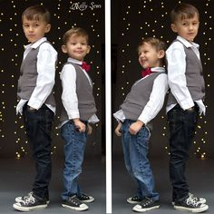 Cute little guys - Sew a vest - Boys Vest with Free Pattern - Melly Sews
