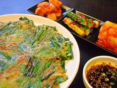 豚たんのおすすめ料理3:ニラチヂミ