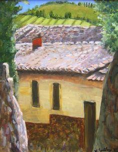 """""""Above Via Podesta"""" Original Oil/canvas  Contact: MB.artwork@verizon.net"""