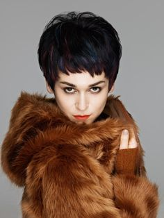 www.esteticamagazine.com | The latest hair fashion collection by Mitù makes hair wavy and big. Height is the main factor in making any texture look playful and touchable. Of course colors give this movement and height refine the look by giving hair dimension and highlights.