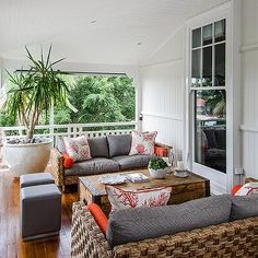 Woven Sofas, Cottage, deck/patio, Highgate House