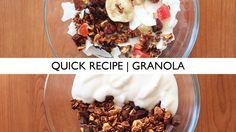 Quick Recipe   Vegan Homemade Tasty Granola