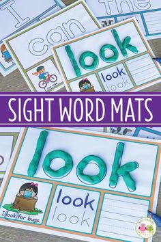 These sight word activity mats provide many ways to practice and learn sight words.your kids will love this learning activity Kindergarten Writing, Preschool Learning, Kindergarten Classroom, Kindergarten Activities, Preschool Activities, Classroom Games, Classroom Behavior, Classroom Decor, Preschool Sight Words
