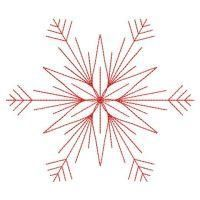 Redwork Snowflakes 2 - Wind Bell Embroidery | OregonPatchWorks