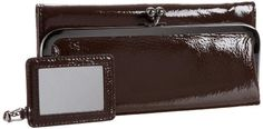 Essential tri-fold frame wallet with a well thought-out interior (even includes an extra mini mirror