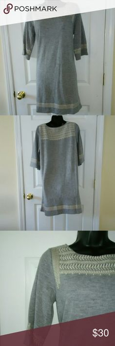 """Anthropologie Edme & Esyllte Medium gray dress Very beautiful in great condition. 18"""" armpit to armpit 36"""" length Anthropologie Dresses"""