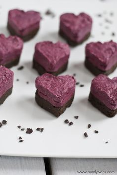 Celebrate Valentine's Day in the raw with these beet fudge protein hearts