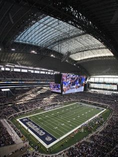 Cowboys Stadium-Arlington, TX- This is by far the best football stadium we have been to.  It was hard not to watch their GIGANTIC screen instead of the action on the field!  Oh and the Lions won with one of the biggest come from behind victories ever.  Fantastic game! :-)