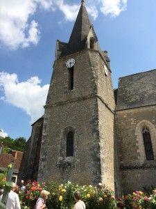Igreja, Festival de Rosas de Chédigny, França