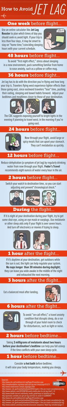 Great tips for avoiding jet lag on your next long haul flight!