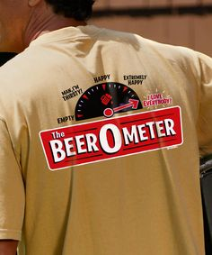 Beer O Meter - Beer-Dyed Crew Neck T-Shirt Kids Shirts, T Shirts For Women, Crazy Shirts, Happy Love, Neck T Shirt, Crew Neck, Beer, Sweatshirts, Root Beer