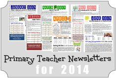 2014 Primary Teacher Newsletters and Appreciation Gift Ideas. I like this idea!