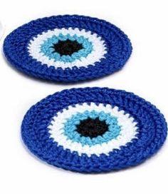 Crochet Coaster Pattern, Crochet Motif, Crochet Patterns, Crochet Ideas, Crochet Bunny, Love Crochet, Crochet Flowers, Glass Coasters, Filet Crochet