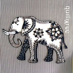 Quilled Elephant by Quilligree