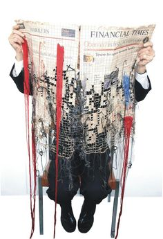 Contemporary Embroidery by Kirsty Whitlock - Losses, 2009 - . Contemporary Embroidery by Kirsty Whitlock – Losses, 2009 – Art Fibres Textiles, Textile Fiber Art, Textile Artists, Contemporary Embroidery, Contemporary Art, Instalation Art, Picasso Paintings, Political Art, Political Events
