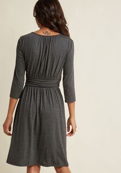 a9300d49b4 This grey dress is precisely the pick for chaotic days