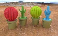 3dprinted plants! Cacti and Pot #3dPrintedColor