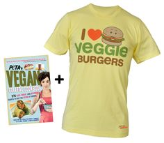 peta2 Food Lover's Bundle – Cookbook and T-Shirt!, $30.00 #PETA #Vegan #college #tshirt