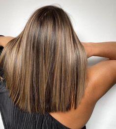 Brown Hair Balayage, Brown Blonde Hair, Brunette Hair, Hair Highlights, Chunky Blonde Highlights, Balayage Straight Hair, Light Blonde Highlights, Honey Balayage, Honey Blonde Hair