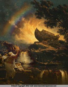 Noah's Ark Canvas Print By Howard David Johnson