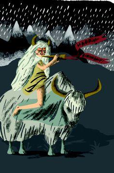Yak Girl// - Jes Hunt Illustration.