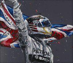 Lewis Hamilton Flag - Paul Oz - Antidote Art