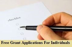 Apply free personal grants