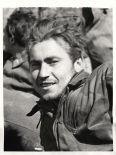 """1944- German """"Green Devil"""" paratrooper taken prisoner when 5th Army troops entered Cassino, Italy."""