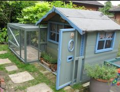 All sorts of rabbit housing idea for you to view. Great ideas lots of fun and ways to make your bunnies' housing an attractive feature in the garden/home as well as a fantastic environment for. Bunny Sheds, Rabbit Shed, Rabbit Run, Pet Rabbit, House Rabbit, Guinea Pig House, Guinea Pigs, Rabbit Enclosure, Lapin Art