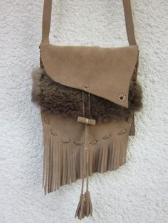 fringe leather bag by inepus for $45.00