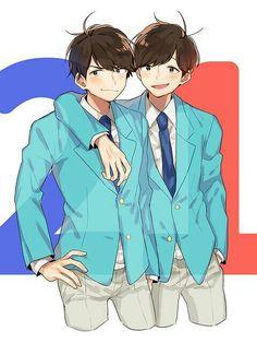 Osomatsu-san- Osomatsu and Karamatsu Me Me Me Anime, Anime Guys, Ichimatsu, Anime Ships, Fujoshi, Kawaii Anime, Otaku, Anime Art, Geek Stuff