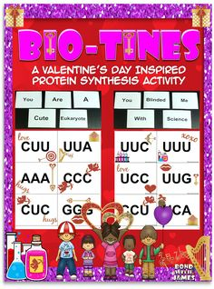 You blinded me with science! Help students celebrate Valentine's Day with this holiday inspired, protein synthesis activity (Biology + Valentine = Biotine)