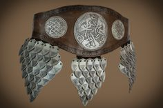 Celtic champion belt with dragon or with dogs, waist size xl 100-132cm by Muarta on Etsy
