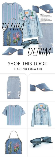 """Denim all over"" by fashion-film-fun ❤ liked on Polyvore featuring IRO, Sigerson Morrison, T By Alexander Wang and STELLA McCARTNEY"
