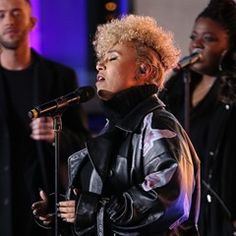 Singer Emeli Sande attends her sound rehearsals for the BBC One show