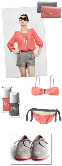 in l<3ve! ~Oh the lovely things: Color Palette : Watermelon Pink + Deep Gray