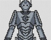 PDF Cross Stitch Pattern for Cyberman - Doctor Who Cross Stitch Chart - Instant Download