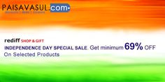 Google+Independence Day Sale minimum 69% off on selected products at Shopping.rediff |  #deals #discounts #coupons #couponcode #trendin #clothes #paisavasul #ecommerce #onlineshopping #offers #india #free #clothing #accessories #shoes #belts #bags #wallets #womenwear #footwear #menswear #promocodes #gifts #combopack #everyrupeecounts #watches #rediff #heels #sunglasses check : www.paisavasul.com
