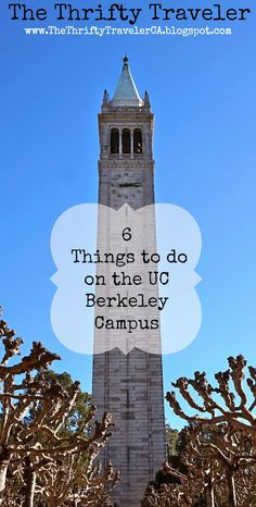 TheThriftyTravelerCA: Planning a trip to Berkeley, California? The #UCBerkeley Campus is the perfect place to spend the day! Check out my 6 favorite things to do on the UC Berkeley Campus (as well as other budget friendly day trips in Northern California) at www.TheThriftyTravelerCA.blogspot.com
