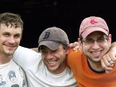 Matt, right, my son in law Andy, center, and their buddy Willie, left.