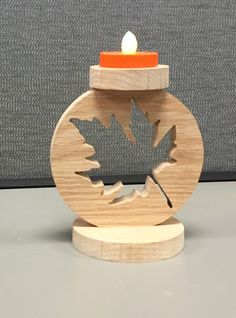 A personal favorite from my Etsy shop https://www.etsy.com/listing/245547445/handcrafted-wooden-maple-leaf-tea-light