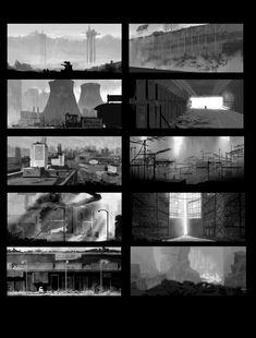 Thumbnails for WALL-e. Exploration for what WALL-e might encounter on trash planet