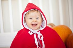 Homemade Little Red Riding Hood costume