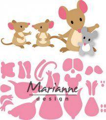 Marianne Design Stanz und Prägeschablone Collectable Eline`s Mäuse Familie