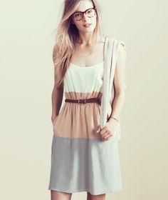 Madewell pastel stylebook Spring 2012. Cute geometric dress.