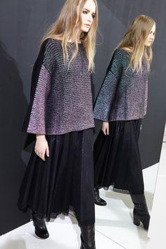 nude abbigliamento fashion moda style knitwear maglieria skirt tulle lamina sweater