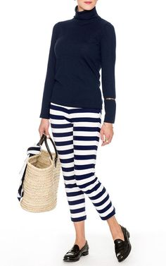 Womens Designer MDS Stripes Marella Capris Hi Waisted New Sz 3/4 -MSRP: $175 #Marella #CaprisCropped