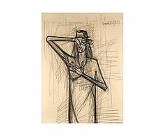 Impresión sobre lienzo Líneas Rectas de Bernard Buffet - 55x75 cm